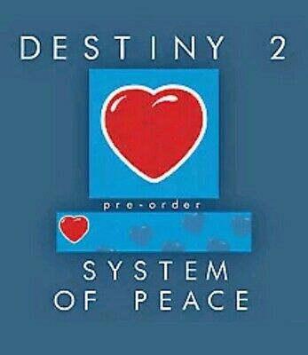 Destiny 2 System Of Peace Emblem Code ON HAND! (PS4/XBOX/PC) CHEAPEST ON EBAY!!