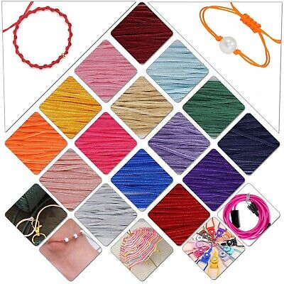 Strong Nylon Braided Cord Thread String 10m x 1.2mm DIY Crafts Jewellery Making