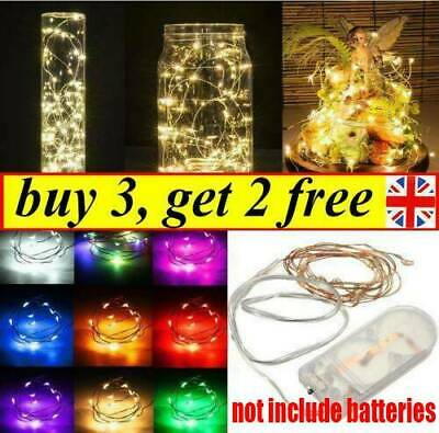 100 LED Micro Copper Wire Fairy String Lights Battery Powered Xmas Lamp Decor UK