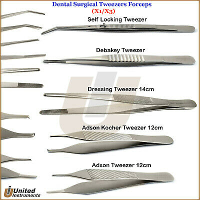 Surgical Dressing Forceps Anatomic Thumb Toothed Tissue Vascular Dental Tweezers
