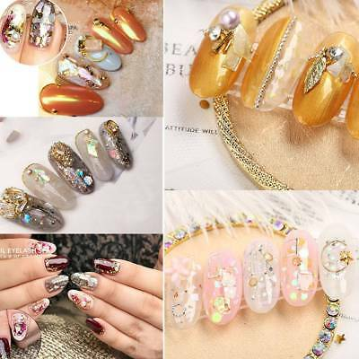 Mixed Colorful Rhinestones For Nails 3D Crystal Stones For Nail Art 5 Colors