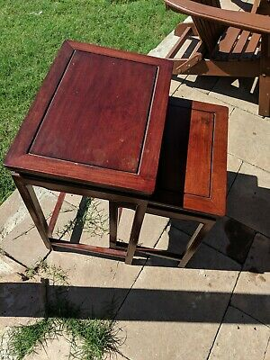 Antique/Vintage Chinese Rosewood Tables (Set Of Two) RARE!  Stunning