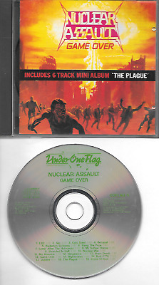 NUCLEAR ASSAULT original CD Game over / The plague 1987 on Under one Flag
