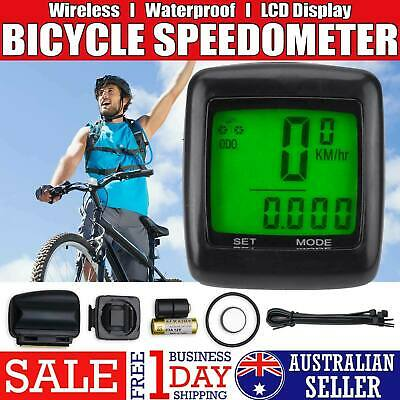 Wireless Waterproof Bicycle Bike Cycle LCD Digital Computer Odometer Speedometer