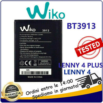 Batteria  BT3913 per WIKO LENNY 4 PLUS WIKO LENNY 4 HARRY 2500mAh 3913