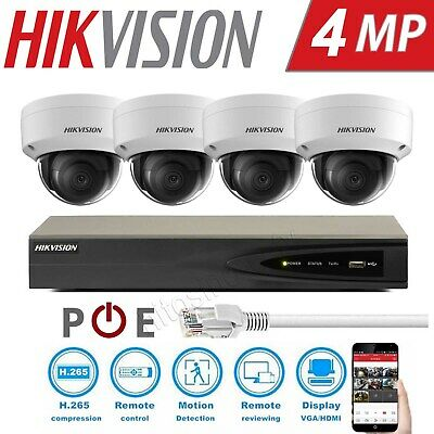Hikvision 4Mp PoE Vandalproof Mini Dome Home Outdoor Business Security Systems