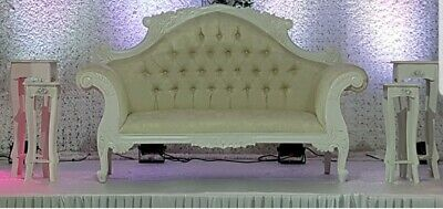 Pleasant Giant Gold Wedding Sofa Love Seat For Hire Double Throne Bralicious Painted Fabric Chair Ideas Braliciousco