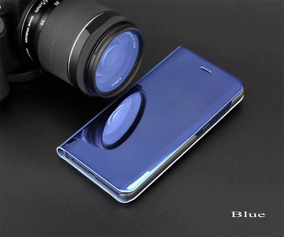 Shockproof Mirror Clear View Case For Oppo Reno Z 10X Zoom Flip Wallet Cover