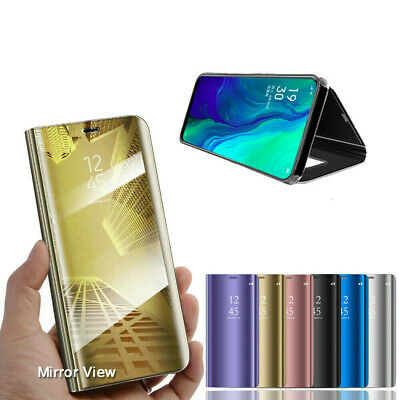 Luxury Smart Mirror View Flip Stand Clear Case Cover For Oppo Reno Z 10X Zoom