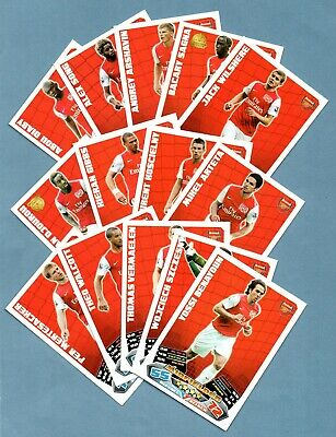 ARSENAL Match Attax 2011/2012 (black backs) - Total of 14 cards
