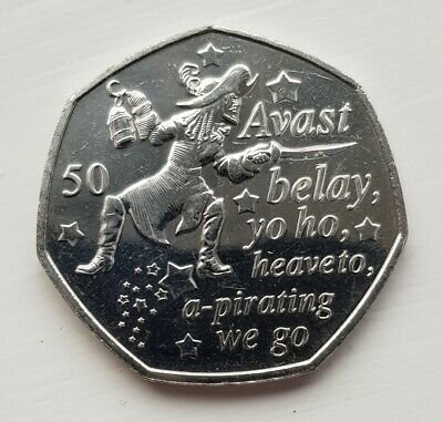 🇮🇲2019 Isle Of Man Peter Pan Collection Captain Hook 50p  🇮🇲