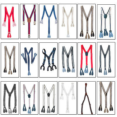 Childrens  Braces Elastic Strips Button Hole Y Back Suspenders Trouser 20mm/25mm