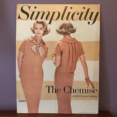 Vintage 1958 SIMPLICITY 2605 Sewing Pattern advertising Display 1950s Sign Shop