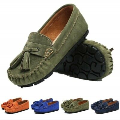 New Baby Tassel Suede Leather Shoes Kids Moccasin Boys Girls Occasion Shoes Pump