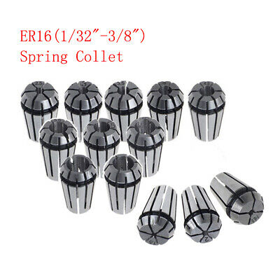 """ER16 Spring Collet for CNC Milling Lathe Tool Workholding 1/32"""" to 3/8"""""""