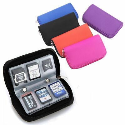 22 Slots Pouch CF/SD/SDHC/MS/DS Bag Carrying Case Memory Card Storage Holder