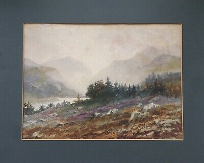 W (William Henry) Harford Signed Watercolour Painting Near Callander Scotland