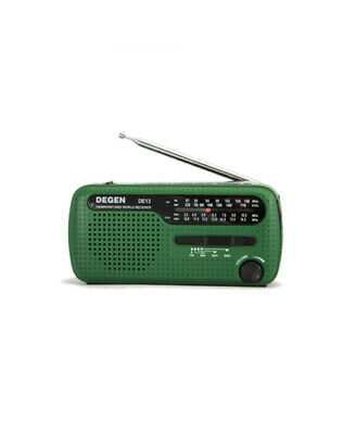 Tecsun DE13 Emergency AM/FM/SW Solar Powered Radio and Dynamo Hand Crack Charger