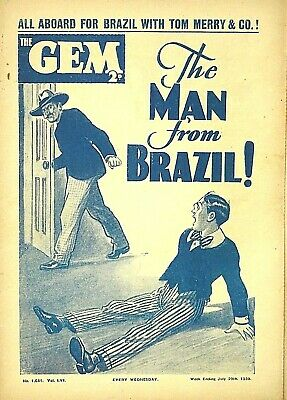 THE GEM - 29th JULY 1939 - RARE 80 YEAR OLD MAG !! VGC..beano dandy magnet rover