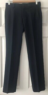 Boys River Island Navy Blue Smart Trousers - Size: 26S/30