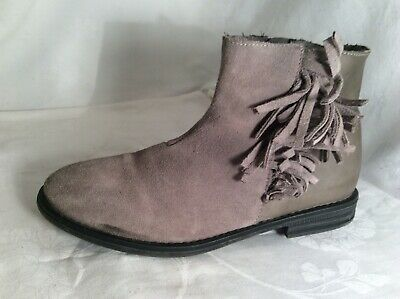 NEXT Girls Leather Grey Ankle Boots Size 2