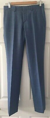 Boys River Island Blue Smart Trousers - Size: 26R/32