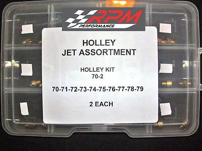 Holley Carb Carburetor GAS MAIN JETS KIT 70-79 1/4-32 2 EACH 20 PACK 70-2