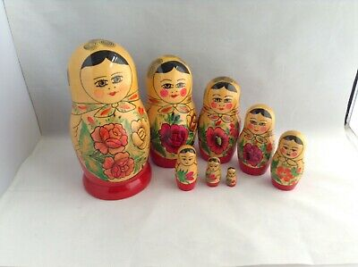 RUSSIAN NESTING DOLLS 8 all decorated