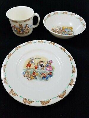 ROYAL DOULTON China BUNNYKINS Baby Dishes Bowl Plate Cup Lot Vintage