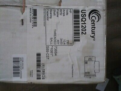 Century B2854 1-1/2 HP 3450 RPM 115/230V Pool and Spa Pump Motor. New in the box