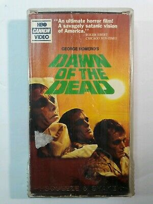 Dawn of the Dead [VHS, 1978] HBO Canon Video Horror George A. Romero! Classic