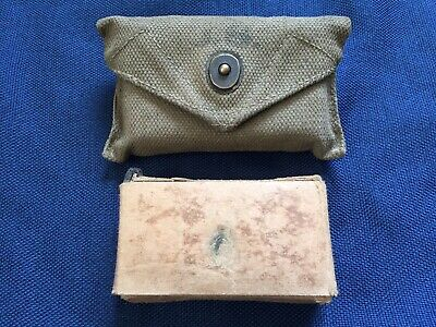 WW2 WWII U.S. Army Marines Medic Pouch With Carlisle First Aid Packet 1945