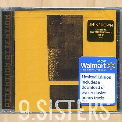 SHINEDOWN Attention Attention WALMART CD The Human Radio DEVIL Get Up       0810