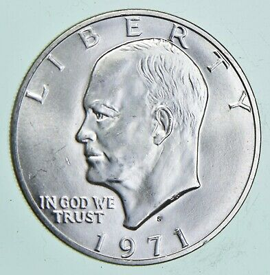 SPECIALLY MINTED S Mint Mark - 1971-S 40% Eisenhower Silver Dollar - RARE *239