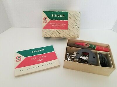 Vintage Singer Style-O-Matic 328 Sewing Machine Parts Instruction Book Manual