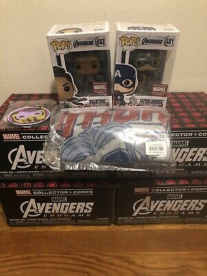 Funko Pop! Marvel Collector Corps Box Avengers Endgame Xs Amazon Captain America