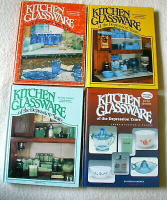 Kitchen Glassware of the Depression Years, 4 volumes Gene Florence values