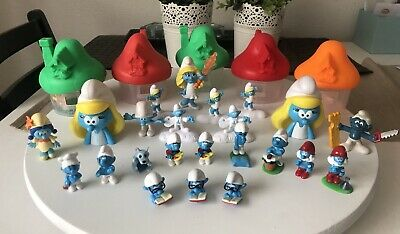 Smurf Lot of 12 smurfs Plastic Figure Mixed Kinder Surprise McDonald's Toy House