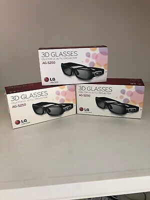 LG AG-S250 3D Glasses - with charging cables.