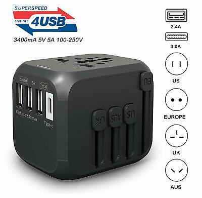 International Travel Adapter with Auto Resetting Fuse Universal Power Adapters 4