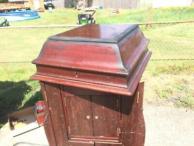 1911 Victor Victrola L-Door Phonograph Cabinet ONLY - No Hardware