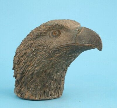 Rare China Bronze Hand-Carved Eagle Head Statue Large Old Collection