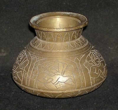Antique Traditional Indian Brass Bowl Kalasha (Lota) Rare Decorative Collectible