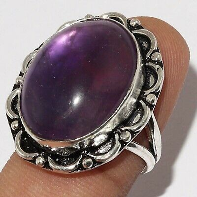 U4990 Amethyst Lace 925 Silver Plated Ring Us 8