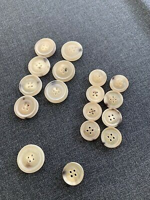 Luxury unpolished real HORN BUTTONS SET sport coat suit blazer bespoke 8.50