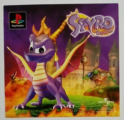 *RARE* Spyro The Dragon Promotional Flyer Playstation One 1 PSOne PS1 PSX