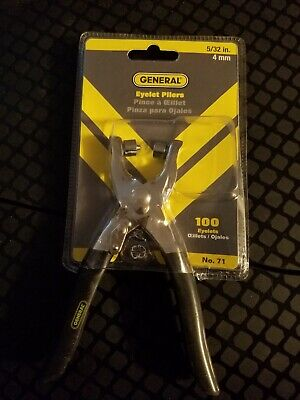 """Eyelet Pliers General Tool #71 Leather Crafting For 1/8"""" Eyelets"""