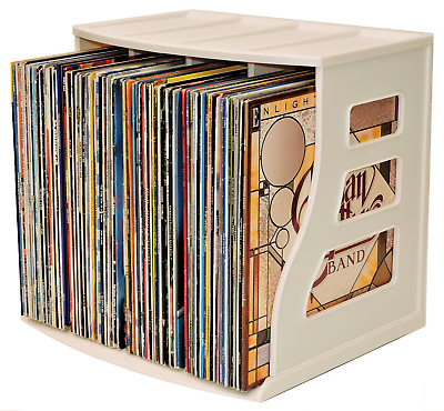 Vinyl Record Storage Crate LP Holder, Paper Rack, Ring Binder Stand, STACKABLE !