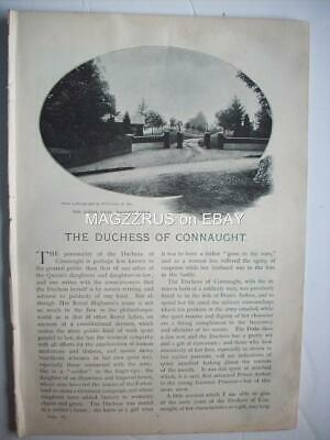 1899 Duchess Louise Margaret CONNAUGHT 1860-1917 @ Bagshot ::magazine article ms