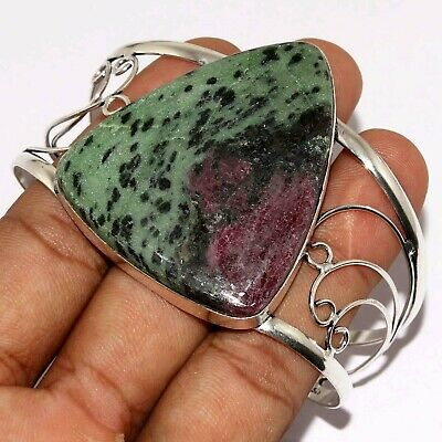 Va-5629 Ruby Zoisite 925 Silver Plated Bangle
